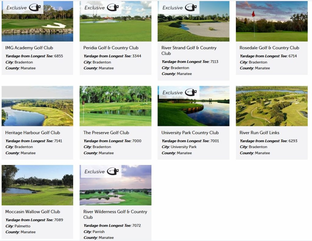 Manatee Golf Courses